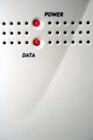 modem: Modem Lights Stock Photo
