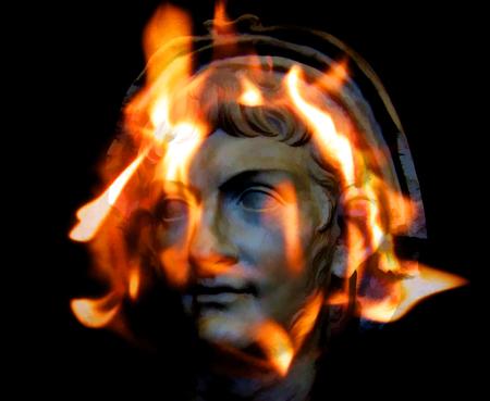 Arte de ilustración digital. Emperador romano Nerón.