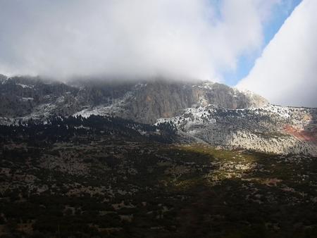 Arachova mountain town Boeotia Greece