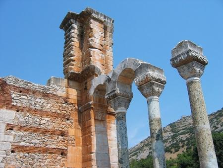 Archaeological Site of Philippi Kavalla Macedonia Greece Stok Fotoğraf