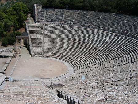 The ancient theatre of Epidaurus Greece Europe