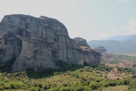 Landscape of Meteora rock formation Kalambaka Greece 免版税图像