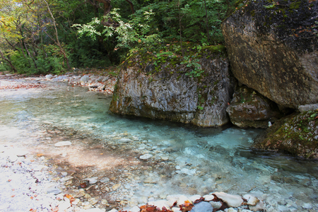 River and Springs in Pozar Thermal Baths Aridaia Greece