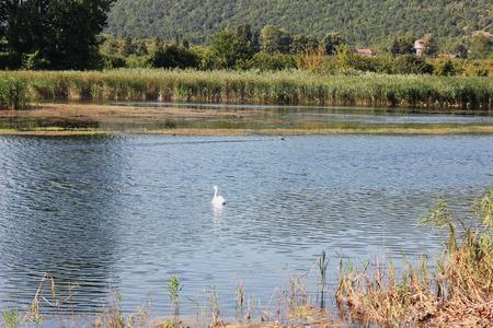 Lake of Agra Edessa Greece Europe Stock Photo