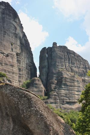 Landscape of Meteora rock formation Kalambaka Greece Фото со стока