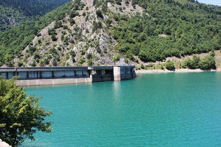 Hydroelectric Dam at Lake Plastira of Karditsa central Greece Europe