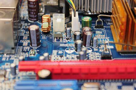 Closeup of electronic circuit board or PCB printed circuit board Stock fotó