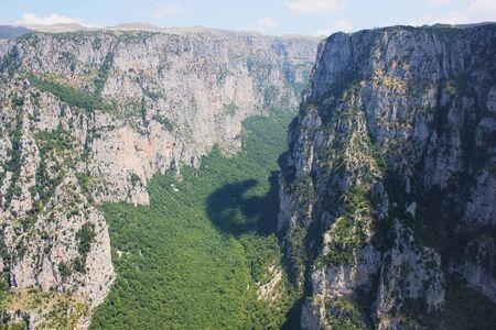 Vikos Gorge View from Oxia Epirus Greece Imagens