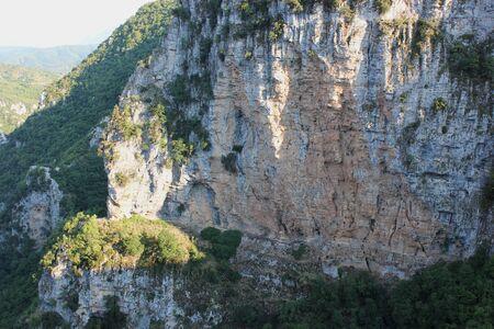 View of Vikos Gorge from Monastery of Agia Paraskevi Monodendri Greece