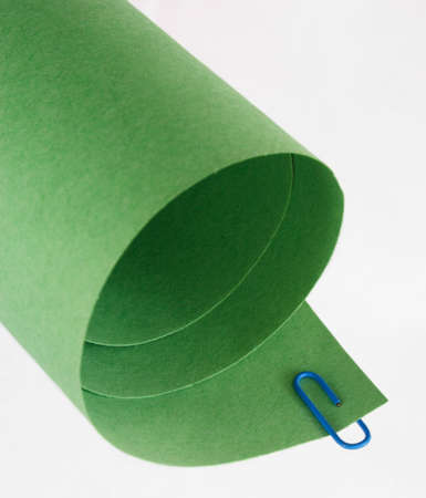 rolled paper: Green Rolled Paper Abstract Stock Photo