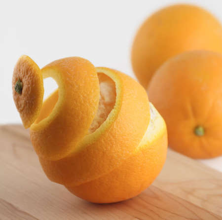 spiral peel of orange