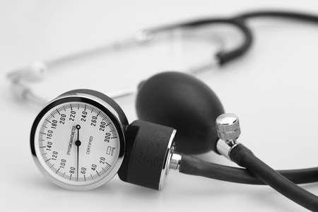 sphygmomanometer stethoscope blood pressure meter medical tool photo