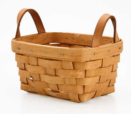 collectable: one small wicker basket detail handmade collectable Stock Photo