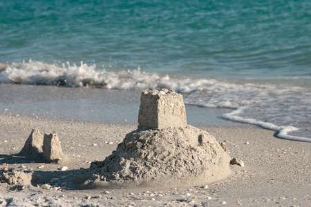 bilding: sand castle bilding beach water ocean summer