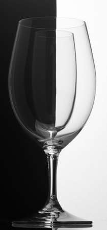 transparence: black white goblet contrast glass transparence hyaline Stock Photo