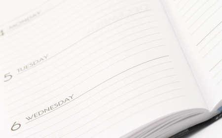 notebook blank notepad paper week planner wednesday