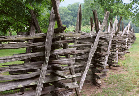 old wood fence palisade enclosure village country photo