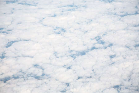 atmosphere: clouds white blue high atmosphere air flight weather Stock Photo