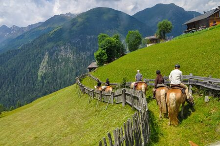 Horse riding tour tourism in Austria in the Alps