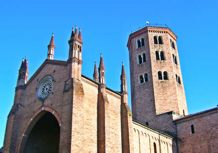 sant: Sant Antonino Church - Piacenza, Italy Stock Photo