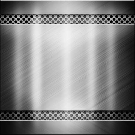 cromo: Metal negro brillante y una textura de aluminio con Blicks Foto de archivo