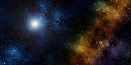 Seamless Starfield with Glowing Stars and Nebula at Night Stock Photo - 12755512