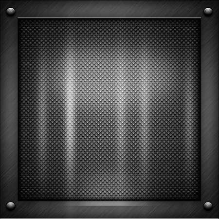 netty: Metal negro brillante y una textura de aluminio con Blicks Foto de archivo