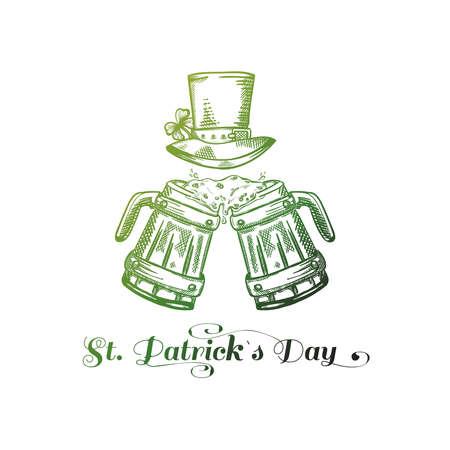 Saint Patrick's Day. Hand drawn vector illustration