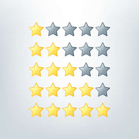 Simple rounded star rating. With outlines makes the stars pop out from background