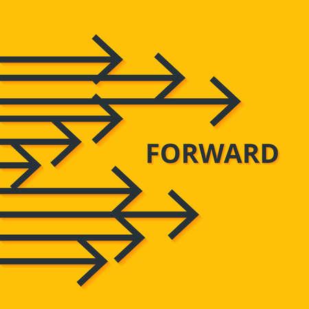 Avancer le concept. Flèches et signe Design simple