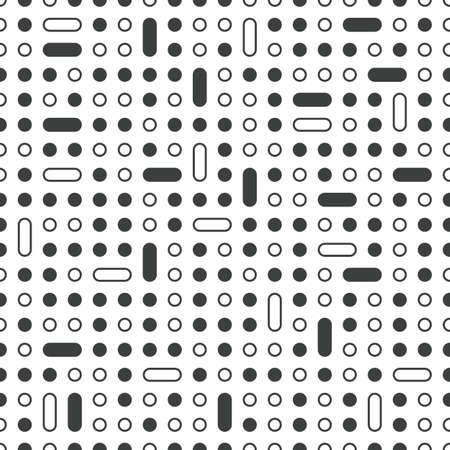 Vector technology seamless pattern with dots perforation Illustration