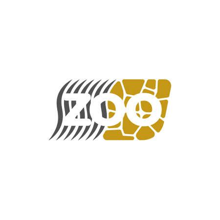 Vector zoo logotype with zebra stripes and giraffe spots Illustration