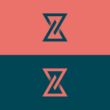 Stylish linear vector icon of hourglass. Eternity design concept. 矢量图像