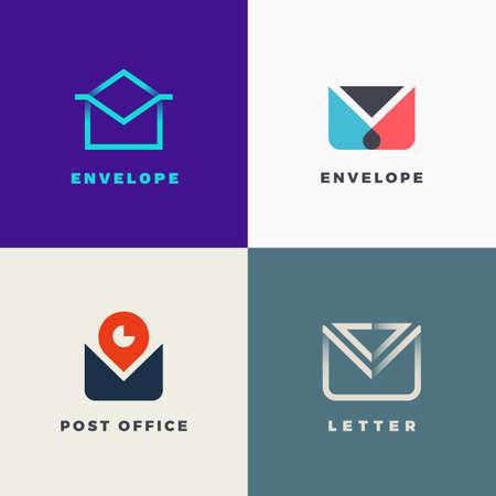 Set of envelope labels.