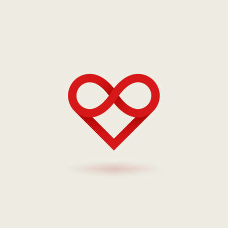 Outline gradient vector icon of heart.