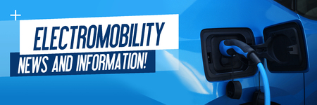 Electromobility - News and Information - Electric car charging on charge station electro mobility environment friendly copy space