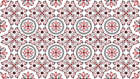 Amazing oriental vintage background Çizim