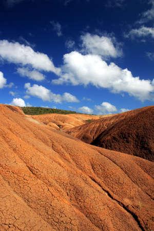 martinique: Desert landscape in Martinique Stock Photo