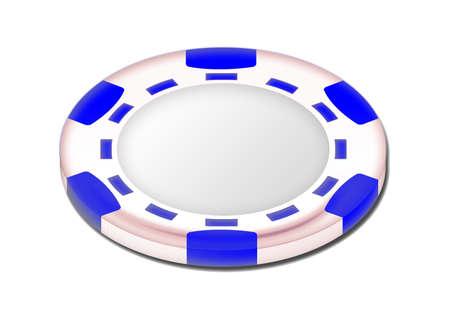 token: White poker token
