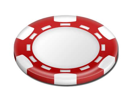 token: Red poker token  Stock Photo