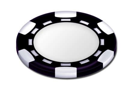 Black poker chip photo