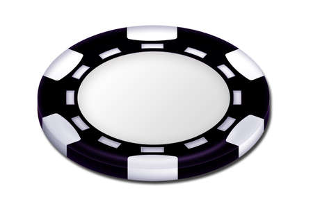 em: Black poker chip Stock Photo