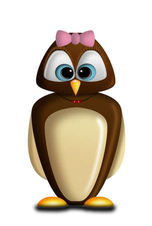 nocturnal animal: Character representing a small owl.