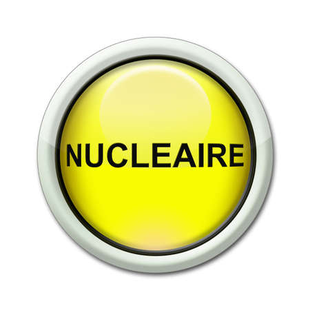 yellow button with the word nuclear photo