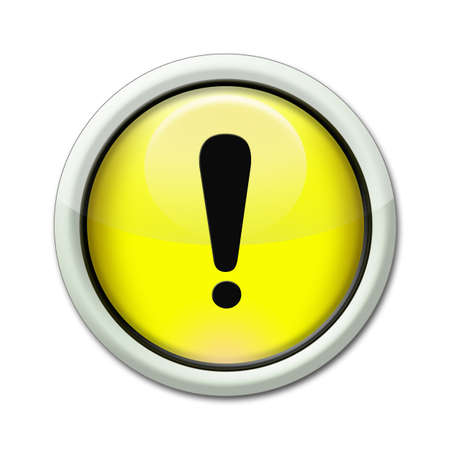 exclamation point: yellow button with an exclamation point