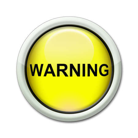yellow button with the word warning Stock Photo - 9098806
