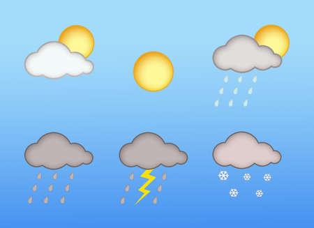 Informe meteorol�gico Foto de archivo - 9427298