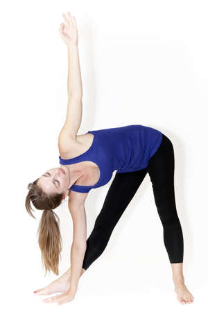 Young girl who stretches Stock Photo - 10260080
