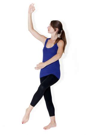 shiva posture in yoga Stock Photo - 10306033