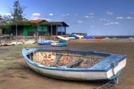 fishing huts: Fishing boat